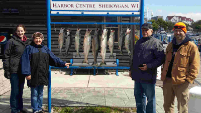 Sheboygan salmon fishing report May 2017